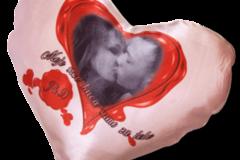 jastuče sa slikom u obliku srca