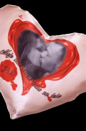 jastuče u obliku srca sa slikom