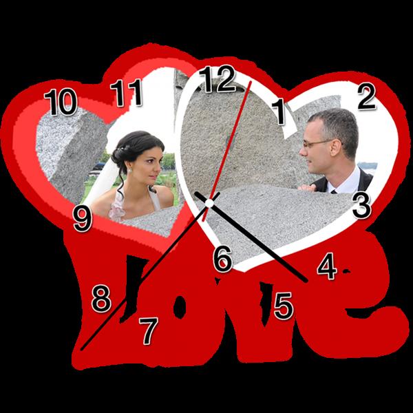 sat u obliku srca