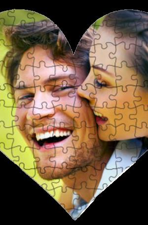 slagalica u obliku srca puzzla