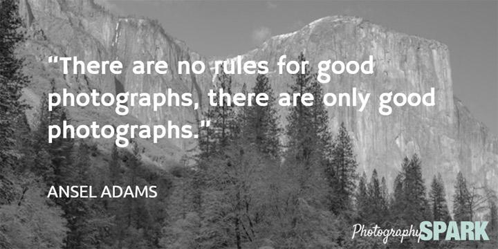 ansel-adams - ne postoje pravila za dobre fotografije