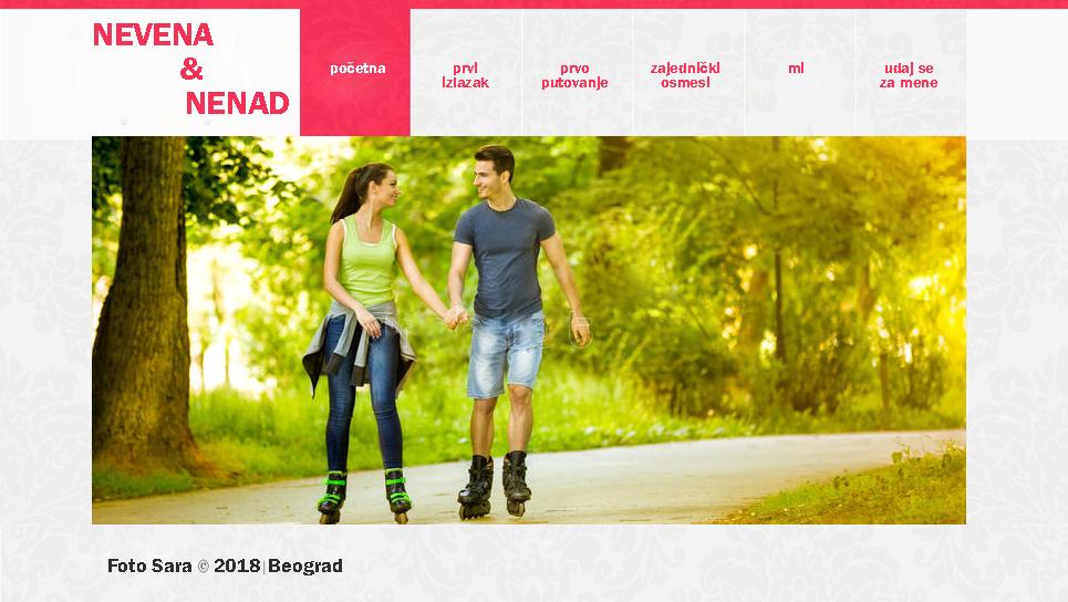 personalizovani web sajt za veridbu