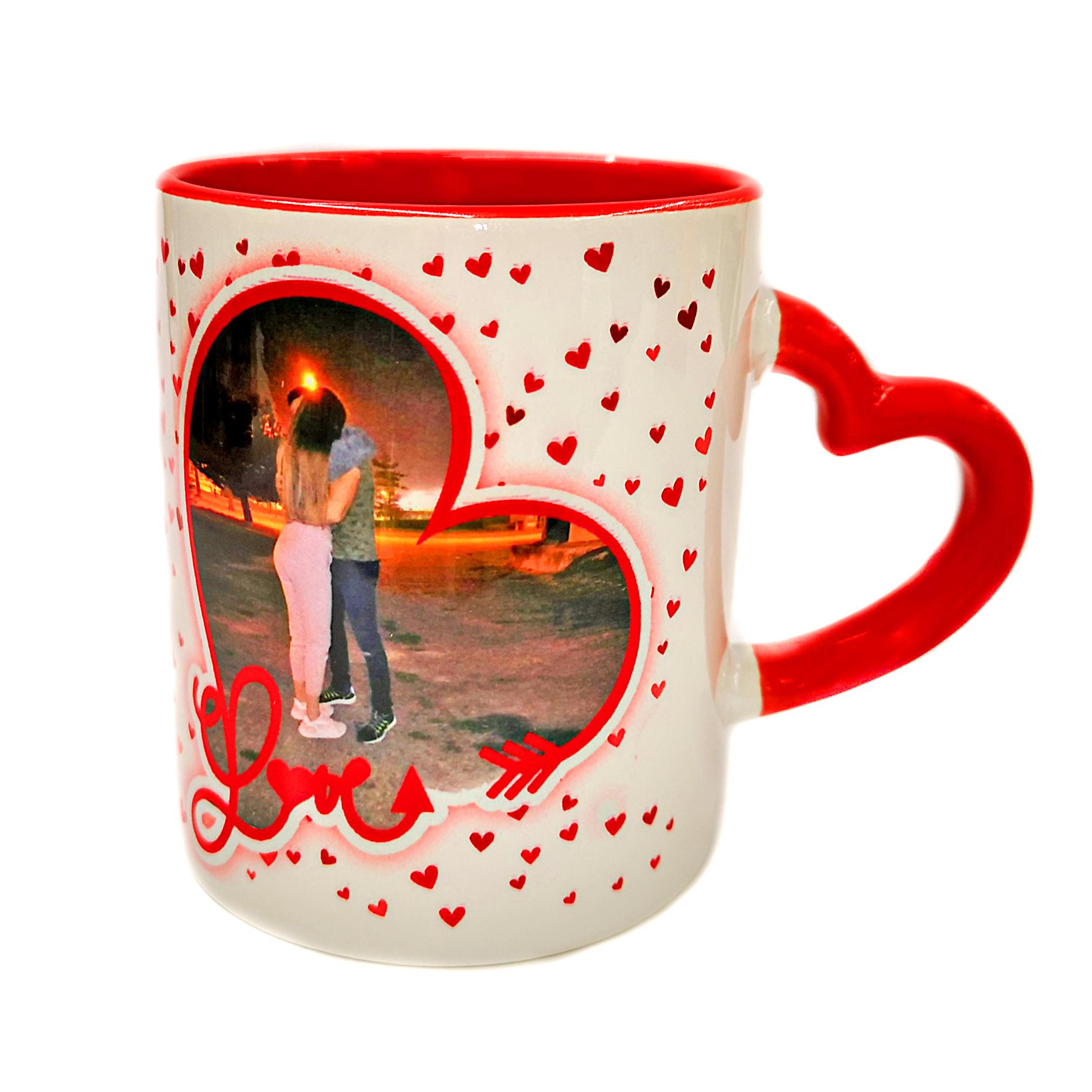 Ljubavna šolja – drška srce